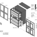 Storage Cabinet Axonometric Drawing