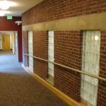 Corridor Where Exterior Wall Meets Interior
